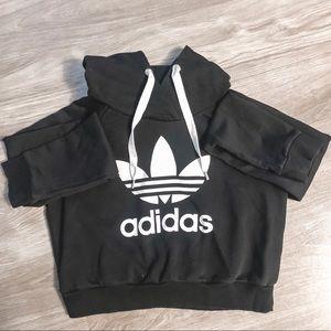 Adidas Black Cropped Sweatshirt